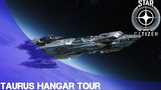 Star Citizen: Constellation Taurus Hangar Tour!
