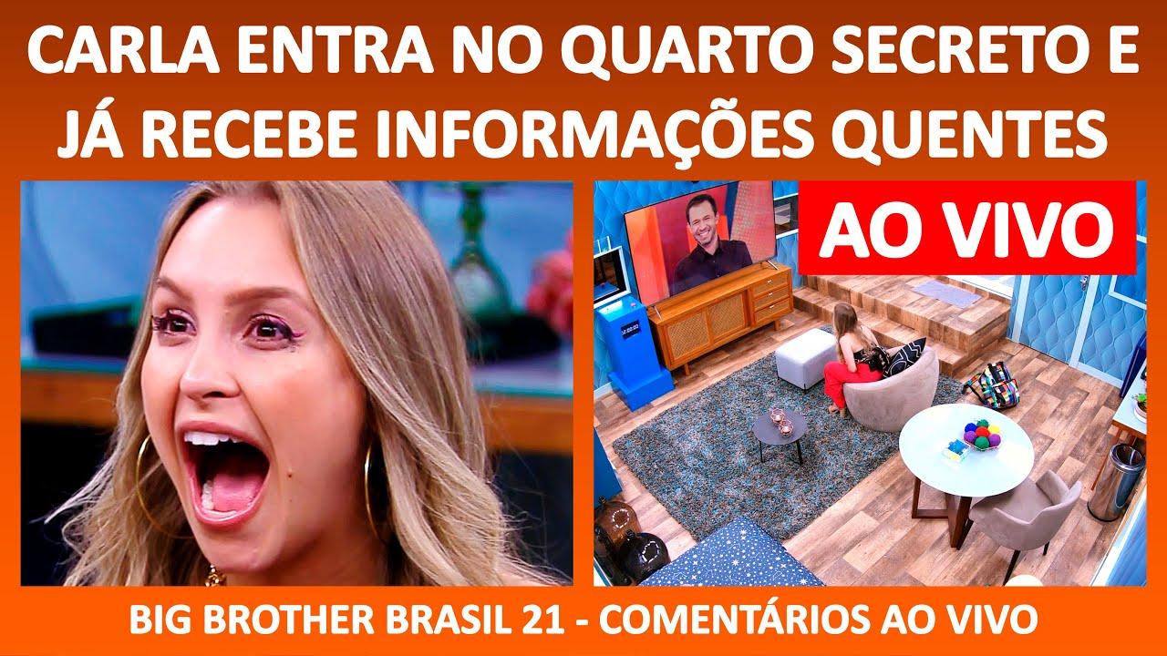 BBB 21: Carla Diaz vai para o Quarto Secreto - 09/03/2021 ...