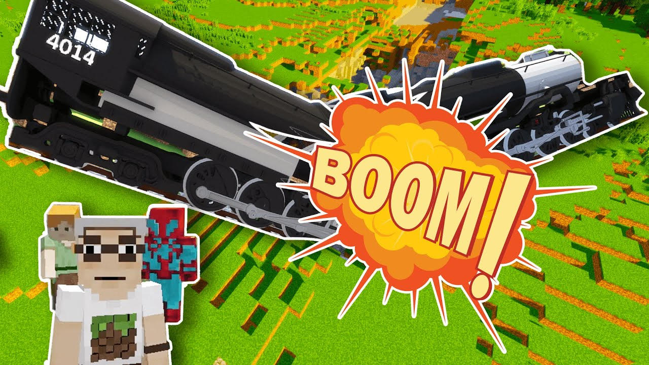 🚂🤔😱 Can trains blow up in Minecraft? Let's find out! 😂😎😜