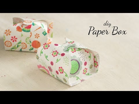 DIY Paper Box |  Paper Gift Box |  Gift Ideas