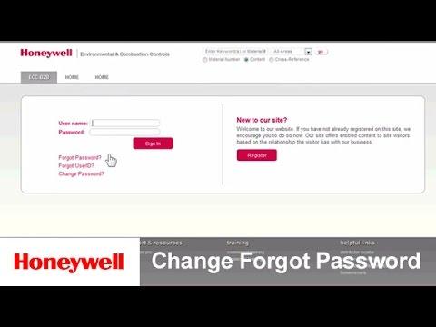 customer honeywell com Change/Forgot Password | Training