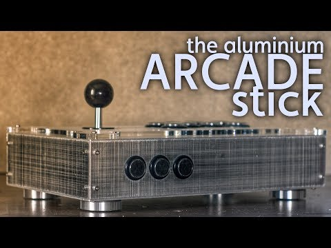 the aluminium ARCADE stick [build vlog]