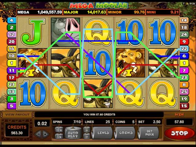 Mega Moolah Session Free Spins With Line Hit