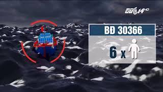 VTC14 | Tàu cá bị chìm, 6 ngư dân gặp nạn