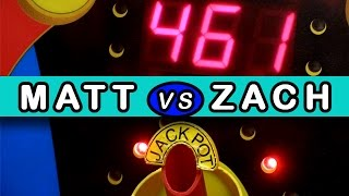 Who Will Win More Tickets? $25 Arcade Game Jackpot Challenge!