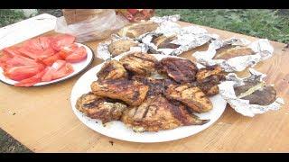 Шашлык из курицы с перекрученным луком  Рецепт  Как приготовить