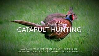 Catapult hunting slingshot shooting and kills