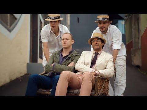 Richard Ayaode & Robert Webb in highvelocity wicker Travel Man: 48hrs in Madeira...