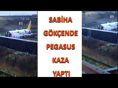 Sabiha Gökçen Havalimanın da kaza, Pegasus havayolları uçağı üç parçaya bölündü, yaralılar var son
