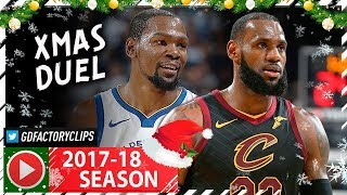 Kevin Durant vs LeBron James EPIC XMAS Duel Highlights 2017.12.25 Cavaliers vs Warriors MUST SEE