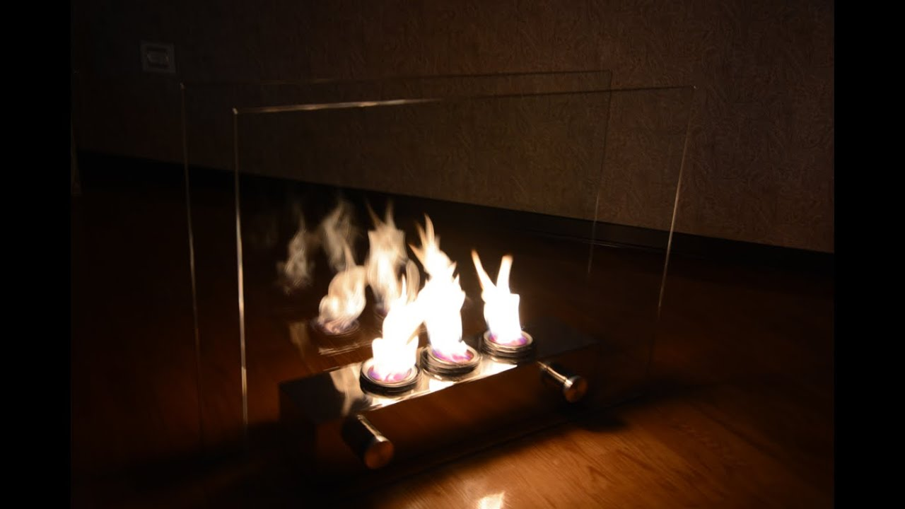 Portable Indoor Outdoor Gel Fuel Fireplace Youtube