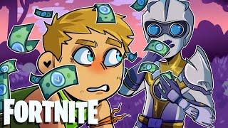 O homem de V-Buck espalha a riqueza em Fortnite: Battle Royale (momentos engraçados de Fortnite e falha)
