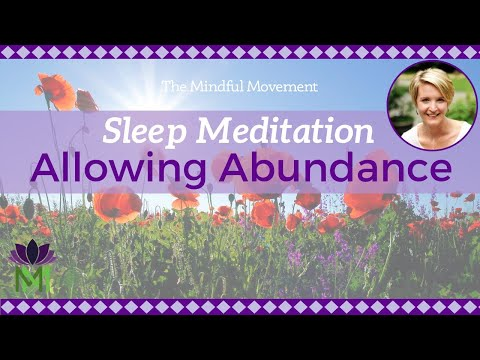 Guided Sleep Meditation and Relaxation for Allowing Abundance