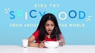 Kids Try Spicy Food from Around the World | Kids Try | HiHo Kids