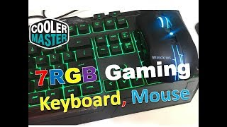 Cooler Master 7 RGB LED Gaming keyboard & Mouse | You Can Buy Now  Devastator3