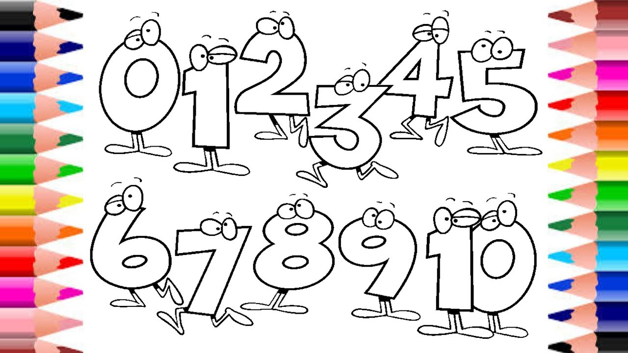 LEARN NUMBERS 123 COLORING PAGES FOR KIDS | VIDEO ...