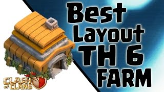Clash of Clans: Melhor Layout CV6 de Farm (Best TH6 Farm Base)