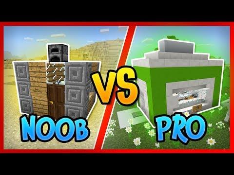TINY house vs MODERN MINING house in Minecraft!