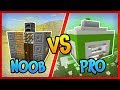 TINY house vs MODERN MINING house in Minecraft!
