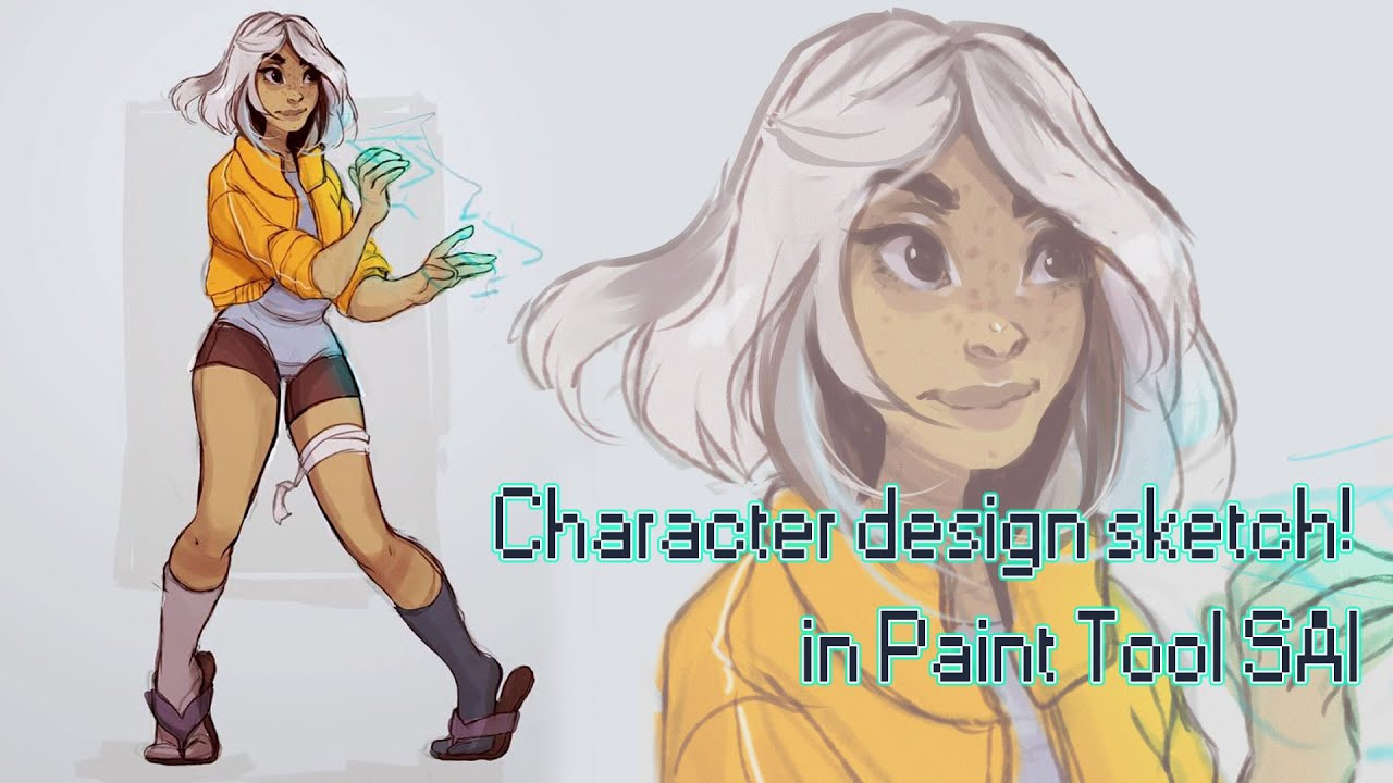 Character Design Tools : Character design sketch in paint tool sai speedpainting