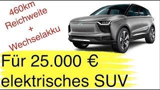 Elektro-SUV für 25.000 Euro I Pläne zur Akkuzellproduktion in Europa I Airbnb für Ladesäulen