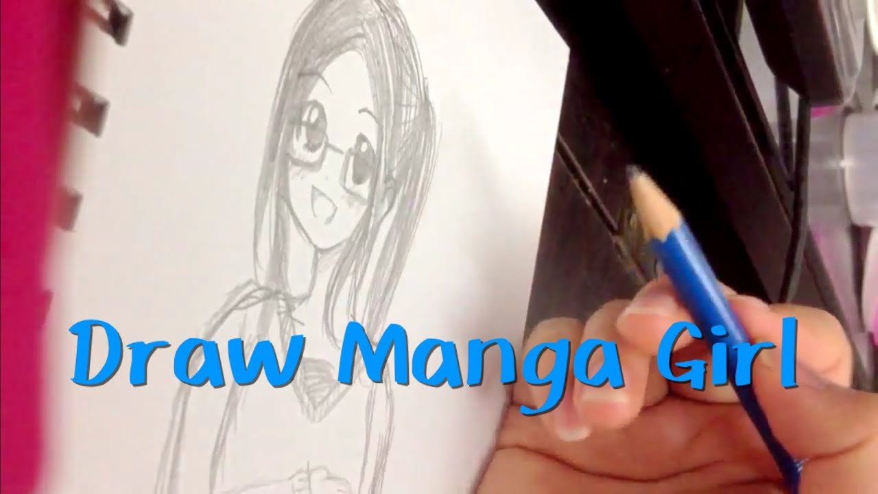 How to draw manga girl with glasses 2 漫畫教學眼鏡娘 youtube
