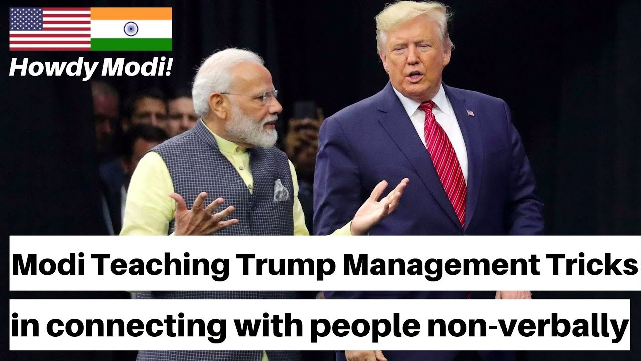 Watch Carefully! Body Language of Modi & Trump and their non-verbal message to world