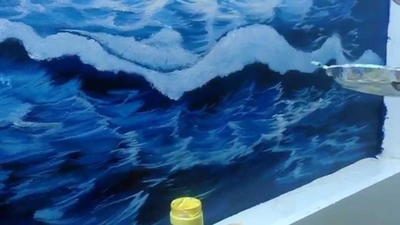 Hướng dẫn vẽ tranh tường 3d phong cảnh biển – p2_0908766656_0973561366