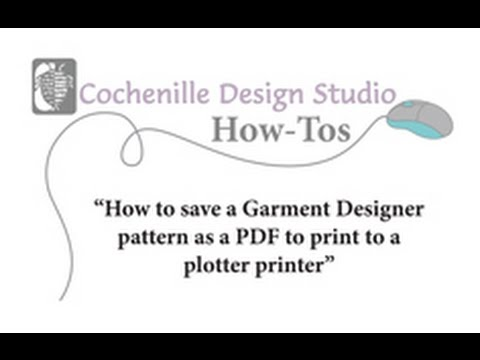 How-to Save a Garment Designer Pattern as a PDF for a Plotter Printer