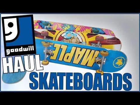 GOODWILL SKATEBOARD HAUL!