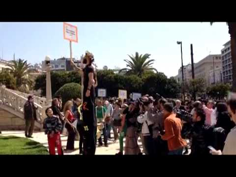 Greek poets protest for World Poetry Day