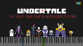 Undertale - 097: But the Earth Refused to Die [Piano Tutorial] (Synthesia)