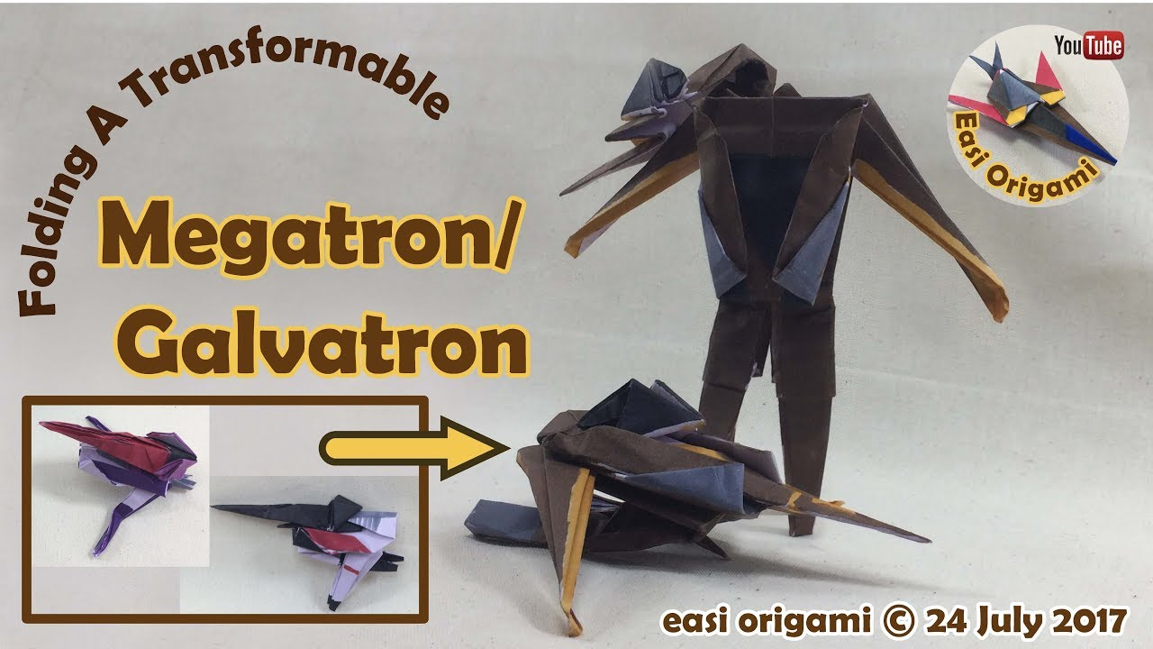 How To Make A Papercraft Origami Transformer Megatron Requires 1