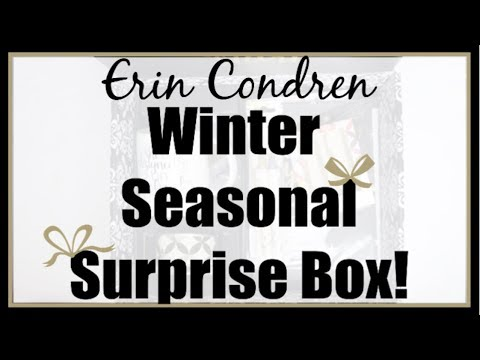 Erin Condren 2018 WINTER Seasonal Surprise Box! | #ECSurpriseBox