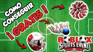 HOW TO GET ALL THE FREE ITEMS! TUTORIAL ROBLOX-SPORT EVENT⚽ COMPLETE IN SPANISH