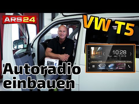 Installing a car radio in the VW T5 | Kenwood DMX 7018 DABS | Tutorial | ARS24