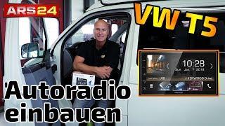 Autoradio im VW T5 einbauen   Kenwood DMX 7018 DABS   Tutorial   ARS24