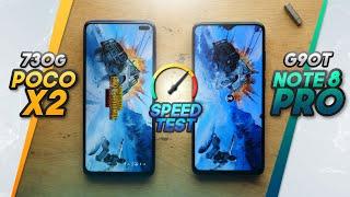 POCO X2 vs REDMI NOTE 8 PRO SPEEDTEST Comparison! Gaming processors battle!