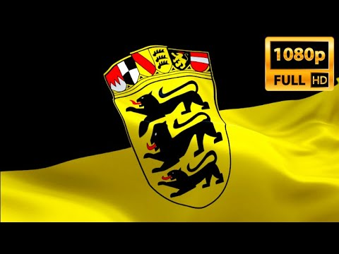 Baden Wurttemberg German State Flag Closeup 1080p Full Hd 1920x1080 Footage Video Waving In Wind Youtube