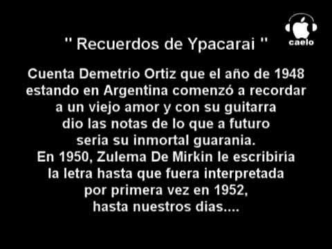 Demetrio Ortiz & Zulema de Mirkin   Recuerdos de Ypacarai KARAOKE