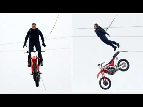 Tom Cruise performs insane BMX stunt for Mission Impossible 7 in UK