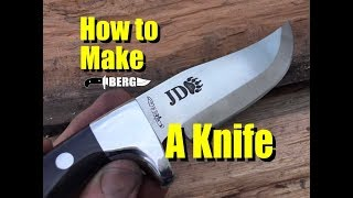 Berg Knifemaking How to Make a Knife with Dovetail Stainless Bolsters