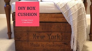 HOW TO MAKE A QUICK AND EASY BOX CUSHION 2019