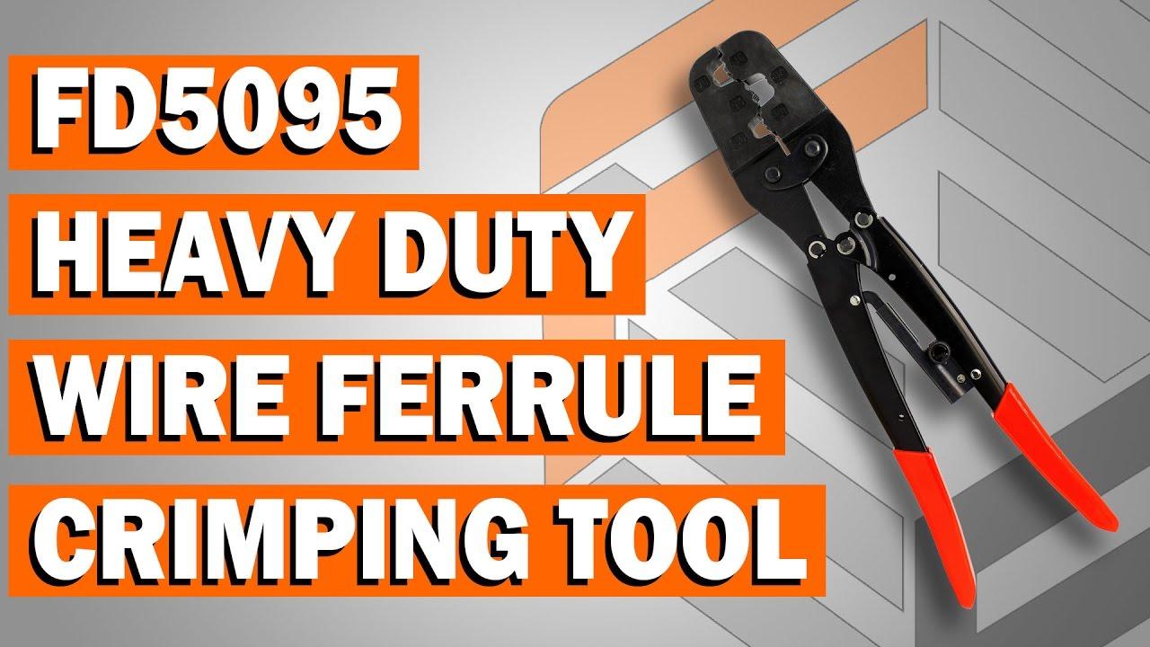 FD5095 Heavy Duty Wire Ferrule Ratchet Crimping Tool - YouTube