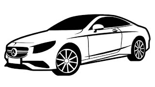 How to Draw a Mercedes-Benz / Как нарисовать Mercedes-Benz