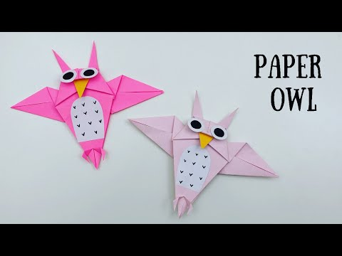 How To Make Easy Paper OWL For Kids / paper bird craft / Paper Craft Easy / KIDS crafts / OWL craft