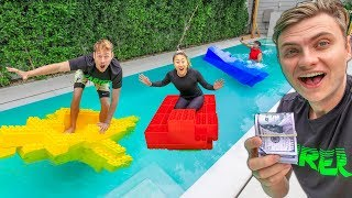 Download BEST LEGO BOAT WINS $10,000 (LAST TO SINK) Mp3 and Videos
