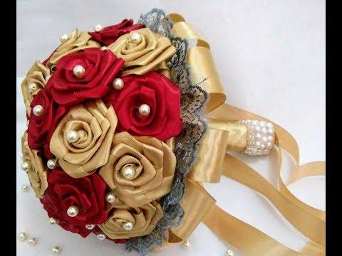Bouquet Sposa Fai Da Te.Bouquet Per Sposa Fai Da Te Diy Bridal Bouquet Youtube