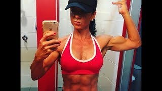43 years young Fitness woman Michelle Schouten - Female muscle
