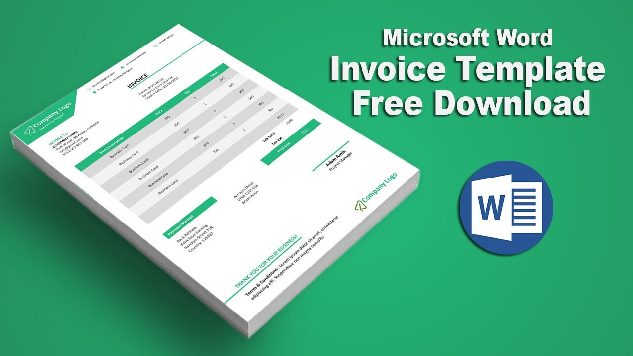 How To Create Payment Voucher Template In Microsoft Word Youtube